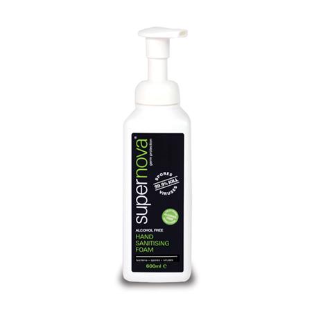 alcohol free hand sanitising foam