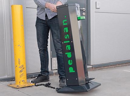 foot operated sanitiser dispenser
