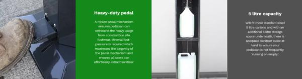 foot pedal sanitiser dispenser