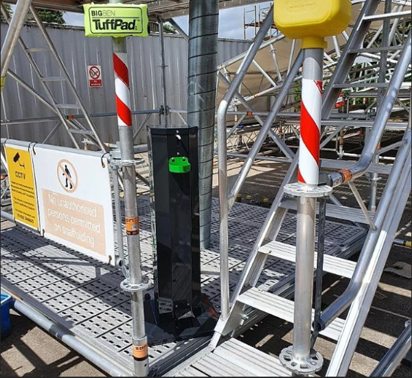 pedal operated sanitiser dispenser